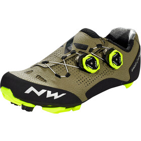 Northwave Ghost XCM 2 Shoes Men forest/yellow fluo